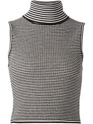 Elizabeth And James Knitted Turtle Neck Sleeveless Top Black