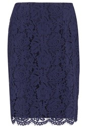 Minimum Christense Pencil Skirt Twillight Blue Dark Blue