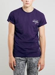 Topman Purple Nothing Roller Fit T Shirt