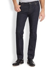 Salvatore Ferragamo Five Pocket Straight Leg Jeans Navy