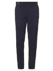 Wooyoungmi Wool Blend Seersucker Slim Leg Trousers