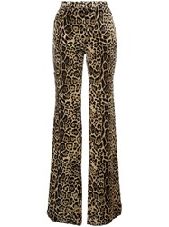 Roberto Cavalli Animal Print Trousers Nude And Neutrals