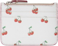Marc By Marc Jacobs White Cherry Print Lina Card Holder