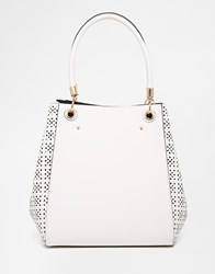 New Look Laser Soft Side Tote White