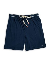 Original Penguin Drawstring Sleep Shorts Navy