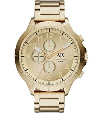 Armani Exchange Ax1752 Gold Plated Stainless Steel Watch