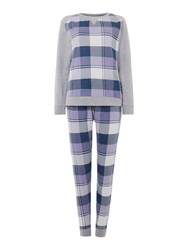 Therapy Lilac Check Lounge Set