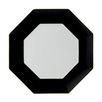 Wedgwood Arris Octagonal Charger Plate Charcoal 33Cm