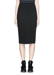 Alexander Wang Ponte Knit Pencil Skirt Black