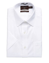 Black Brown Regular Fit Dress Shirt White