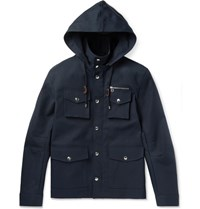 Michael Bastian Cotton Canvas Field Jacket Navy