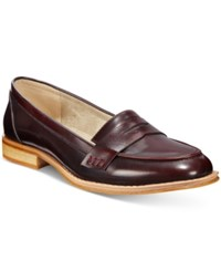 Wanted Campus Penny Loafers Women's Shoes Wine