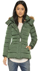 Add Down Down Jacket With Fur Hood Greengage