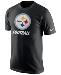 Nike Men's Pittsburgh Steelers Facility T Shirt Black