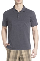 The North Face Men's 'Alpine Start' Flashdry Stretch Jersey Polo Tnf Dark Grey Heather