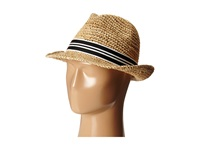 Hat Attack Chunky Crochet Fedora Natural Black And White Stripe Fedora Hats Neutral