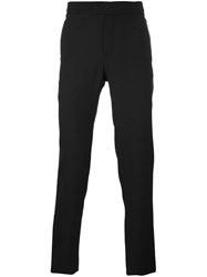 Les Hommes Tailored Straight Trousers Black