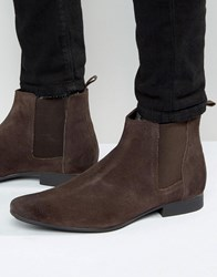 Frank Wright Chelsea Boots In Brown Suede Brown