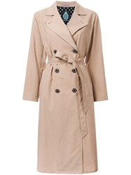 Guild Prime Double Breasted Trench Coat Brown