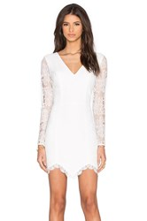 Nbd X Revolve Long Sleeve Look Back At It Dress White