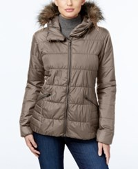 Columbia Sparks Lake Faux Fur Trim Thermal Coil Puffer Jacket Mineshaft