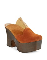 Free People Big Sky Suede Clogs Brown