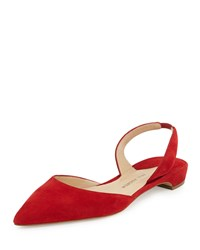 Paul Andrew Rhea D'orsay Slingback Flat Lacquer Red Women's Size 40.5B 10.5B