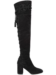 Elie Saab 80Mm Suede Over The Knee Boots