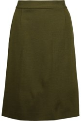 M Missoni Knitted Skirt Army Green