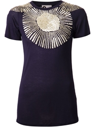 Lanvin Sequin T Shirt Blue
