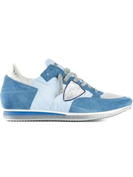 Philippe Model Patch Panelled Sneakers Blue