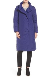 Eileen Fisher Women's Weather Resistant Down Coat Deep Adriatic