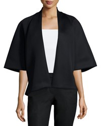 Natori Half Sleeve Open Front Jacket Black