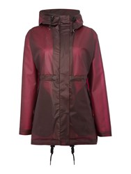 Hunter Matte Vinyl Hooded Smock Coat Plum