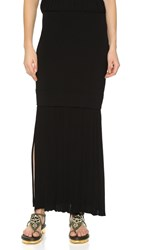 Josh Goot Long Line Skirt Black