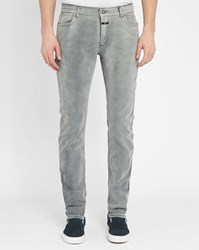 Closed Grey Elastane Slim Fit Jeans