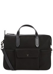 Mismo M S Black Canvas Briefcase