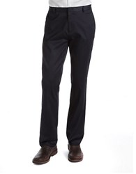Calvin Klein Slim Fit Flat Front Pants Navy