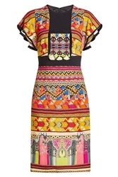 Etro Printed Dress With Tassels And Fringed Trims Multicolor