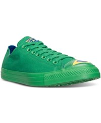 Converse Men's Chuck Taylor All Star Ox Flag Toe Cap Casual Sneakers From Finish Line Green Blue Aurora Yellow