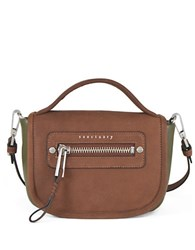 Sanctuary Leather Crossbody Bag Green Brown