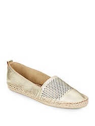 Kenneth Cole Reaction Boom Arang Perforated Leather Espadrilles
