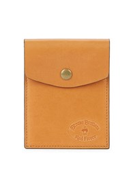 Brooks Brothers Leather Card Pouch Brown