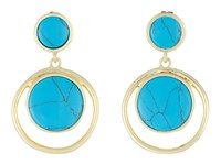 Karen Kane California Current Drop Earrings Turquoise Earring Blue