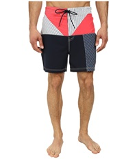 Nautica Stripe Color Block Trunk Paridise Pink Men's Swimwear