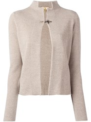 Fay Hook Detail Cardigan Nude Neutrals