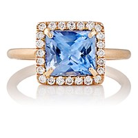 Irene Neuwirth Diamond Collection Women's Blue Sapphire And White Diamond Ring No Color