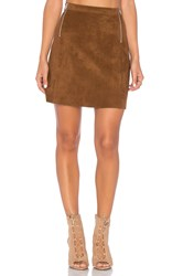 1.State A Line Zipper Skirt Brown