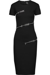 Mcq By Alexander Mcqueen Embellished Stretch Jersey Dress Black