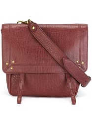 Jerome Dreyfuss Stud Detail Satchel Red